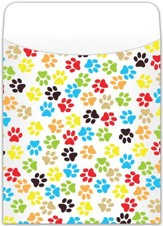 Book Pockets: Paw Prints, Pack of 35