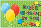 Happy Birthday To You Postcard, Pack of 30