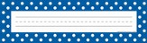 Name Plates - Blue Polka Dots, Pack of 32