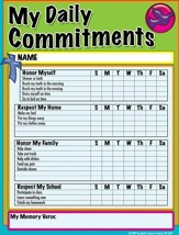 My Daily Commitments, Pack of 26