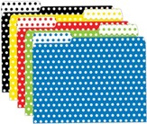 Mini Folders - Polka Dots, Pack of 25