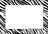 Name Tags - Zebra, Pack of 31