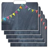 File Folders - Chalkboard, Pack of 12