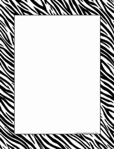 Computer Paper - Zebra, Pack of 50
