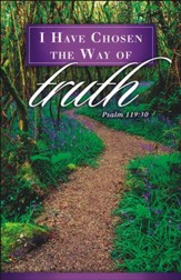 The Way of Truth (Psalm 119:30) Funeral Bulletins, 100