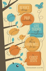 Rejoice Always, Pray Continually, Give Thanks, Pack of 100 Bulletins