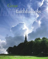 Great Is Thy Faithfulness, Pack of 100 Large Bulletins
