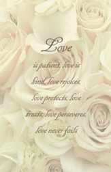 Love Is Patient Love Is Kind, Pack of 100 Bulletins