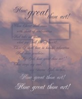 How Great Thou Art, Pack of 100 Large Bulletins