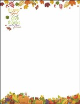 O Lord My God Artwork Letterhead, Pack of 100