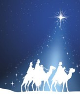 Silhouette Epiphany Wise Men, Pack of 100 Large Bulletins