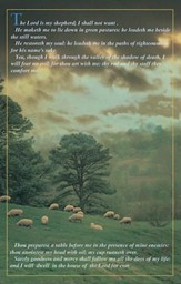 Psalm 23 Large Tree and Sheep, Pack of 100 Bulletins
