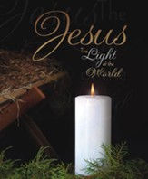 Jesus the Light of the World, Pack of 100 Large Bulletins