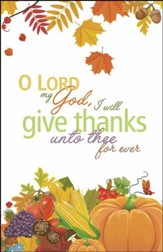O Lord My God Artwork, Pack of 100 Bulletins