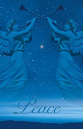Christmas Angels Advent 2 Peace, Pack of 50 Bulletins