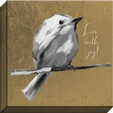 Live With Joy, Bird Canvas Art