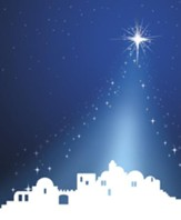 Silhouette Advent 4 Bethlehem, Pack of 100 Large Bulletins