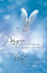 Peace I Leave With You Dove Blue Sky, Pack of 100 Bulletins
