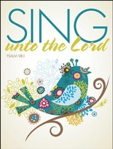 Sing Unto the Lord, Pack of 100 Large Bulletins