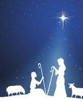 Silhouette Advent 1 Shepherds, Pack of 100 Large Bulletins