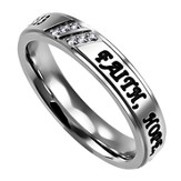 Faith, Hope, Love Girls Luxury Women's Ring, Size 5 (1Corinthians 13:13)