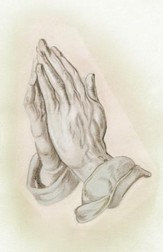 Praying Hands, Pack of 100 Bulletins