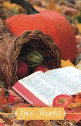 Cornucopia Open Bible, Pack of 100 Bulletins