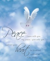 Peace I Leave With You Dove Blue Sky, Pack of 100 Large Bulletins