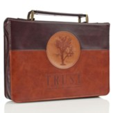 Trust, Tree Bible Cover, Brown, Large