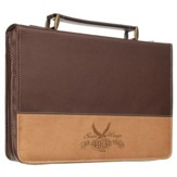 Soar Wings Bible Cover, Brown, Large