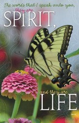 Spirit and Life Butterfly, Pack of 100 Bulletins