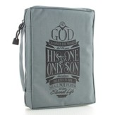 For God So Loved Bible Cover, Gray, Medium