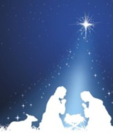 Silhouette Christmas Holy Family, Pack of 100 Large Bulletins