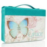Grace, Butterfly Bible Cover, Large