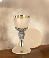 Grapes & Leaves Chalice with Paten Set