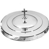 Stainless Steel Stacking Bread Plate Cover, Silver Finish