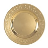 Solid Brass In Remembrance Of Me Etched Bread Plate