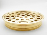 Stainless Steel Stacking Communion Tray, Brass Finish