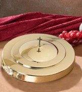 Stainless Steel Communion Tray Cover, Brass Finish