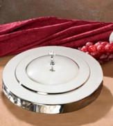Communion Tray Cover, Silver Finish