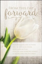 This Day Forward (1 John 4:12) Wedding Bulletins, 100