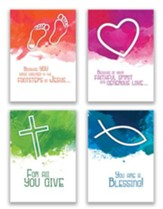 From Grateful Hearts, Box of 12 Assorted Ministry Appreciation Cards (KJV)