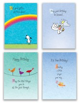 Whimsical Wishes, Box of 12 Assorted Birthday Cards (KJV)