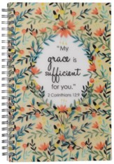 Grace Is Sufficient Wirebound Notebook