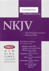 NKJV Pitt Minion Reference Bible, Goatskin leather, brown