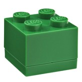 Dark Green LEGO Mini Box Size 4 (Insertable Snack Box for Lunches)