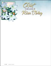 Christ the LORD is Risen Today Letterhead, 100