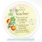A Special Teacher Circle Plaque