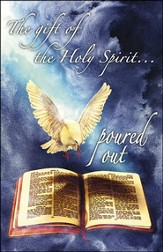 The Gift of the Holy Spirit Dove and Bible Artwork (Acts 10:45, NIV) Bulletins, 50