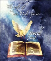 The Gift of the Holy Spirit Dove and Bible Artwork (Acts 10:45, NIV) Large Bulletins, 100